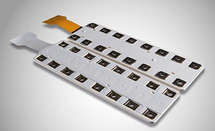 Figure 2. The ROLINX Hybrid is an example of a commercial laminated busbar that combines signal and power connections to save space in the design of an EV or HEV.