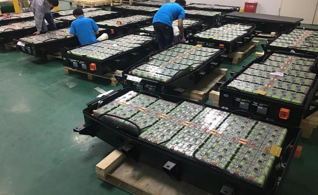 Endkontrolle von Akkusätzen - Final inspection of battery packs